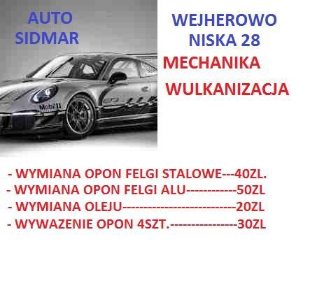 Opony Wulkanizacja Auto Sidmar Mechanika Wulkanizacja Wejherowo